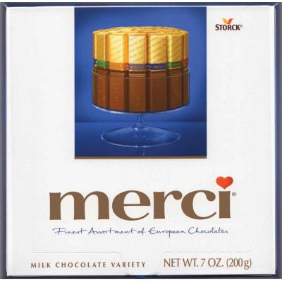 Merci European Milk Chocolate Assortment Gift Box