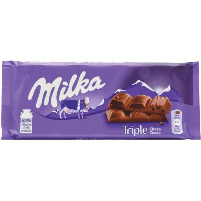 Milka Triple Chocolate Cocoa Bar