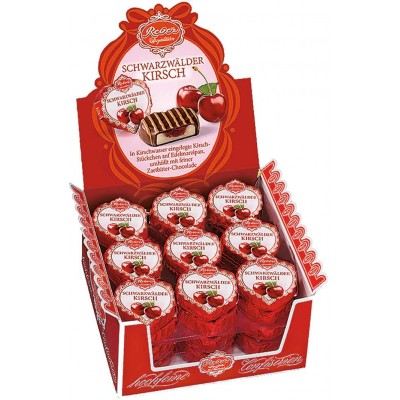 Reber Black Forest Cherry Hearts Counter Display