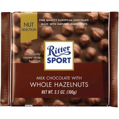 Ritter Whole Hazelnuts Chocolate Bar