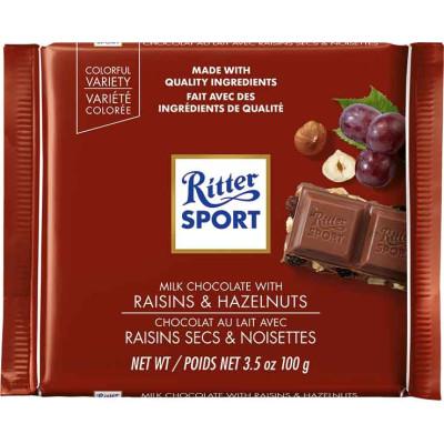 Ritter Raisin & Hazelnut Chocolate Bar