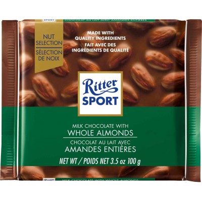 Ritter Whole Almond Chocolate Bar
