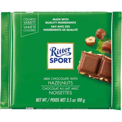 Ritter Milk Chocolate with Hazelnuts Chocolate Bar