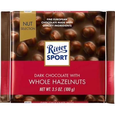 Ritter Dark Chocolate & Whole Hazelnuts Bar