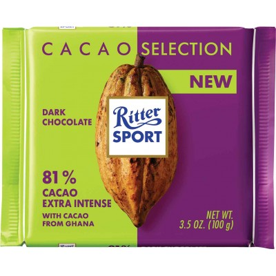 Ritter 81% Ghana Extra Intense Chocolate Bar