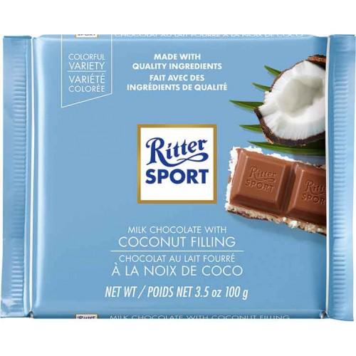 Ritter Coconut & Milk Chocolate Bar