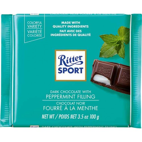 Ritter Dark Peppermint Chocolate Bar