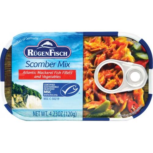 Rugenfisch Scomber Mix (Mackerel Salad) Tin