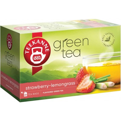 Teekanne Green Tea with Strawberry Lemongrass