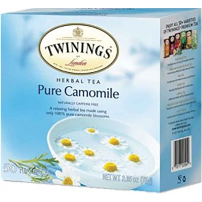 Twinings of London Pure Camomile Herba Tea 50 CT Box