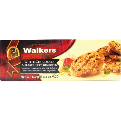 Walkers White Chocolate with Raspberry Shortbread
