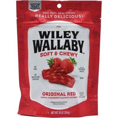 Wiley Wallaby Red Licorice Bag