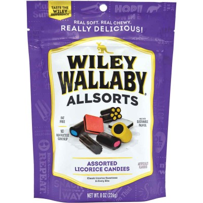 Wiley Wallaby Allsorts Licorice Bag